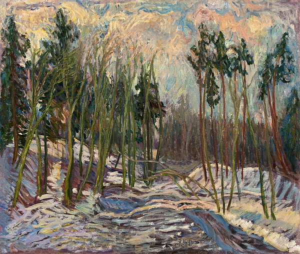 Impressionism Painting - Winter A by Babelis Vytautas