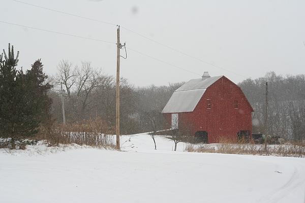 Winter Photograph - Winter Barn Scene  by Eric Irion