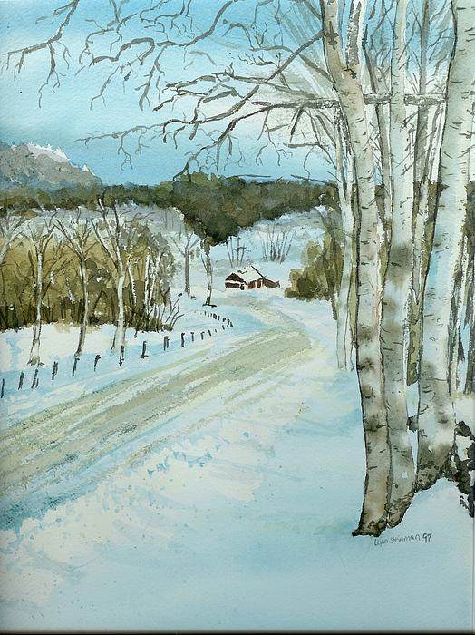 Landscape Painting - Winter Birch by Lynn Babineau