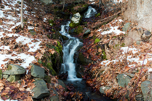 Waterfall Photograph - Winter Falls At Franny Reese by Jeff Severson
