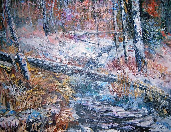 Trees Painting - Winter Forest by Judy Groves