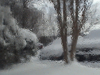 Holiday Card Photograph - Winter Frozen Window by Ana Aguiar