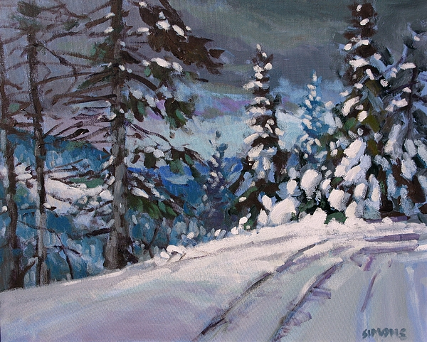 Paintings Painting - Winter Grays 2 by Brian Simons