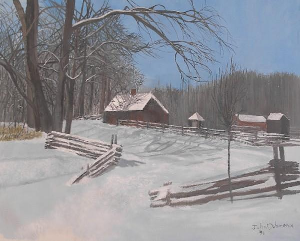 Winter Painting - Winter In Michigan by Ivan P Dobranic