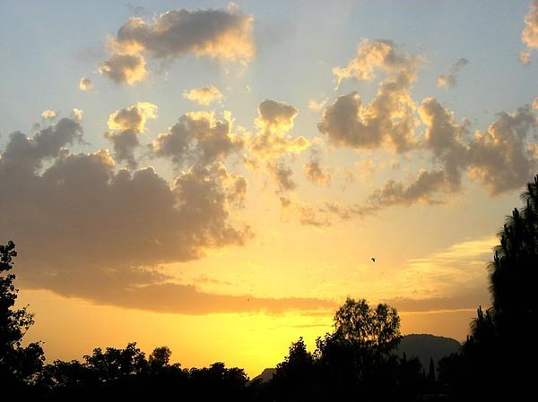 Sunset Photograph - Winter In Pakistan by Caroline  Urbania Naeem