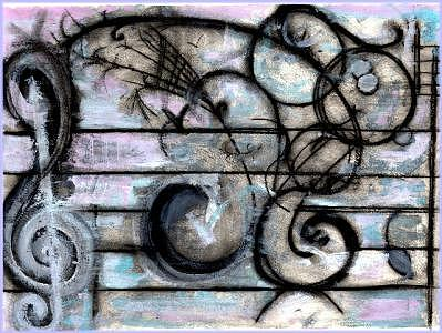 Musical Painting - Winter by Julianne Richards