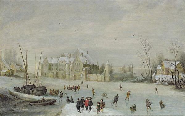 Winter Painting - Winter Landscape by Barent Avercamp