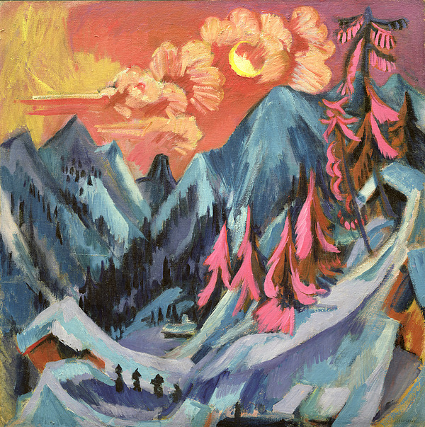 Winter Painting - Winter Landscape In Moonlight by Ernst Ludwig Kirchner