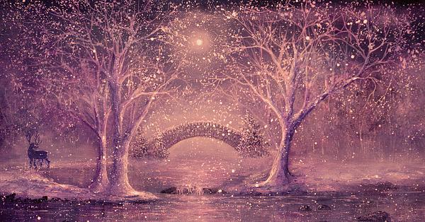Winter Painting - Winter Magic by Ann Marie Bone
