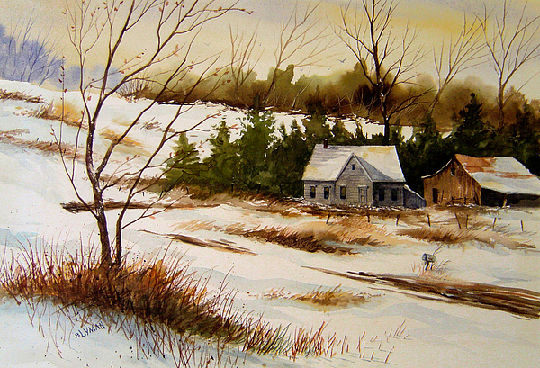 Landscape Painting - Winter Morning by Brooke Lyman