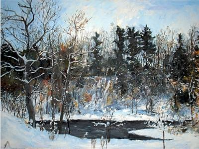 Winter Painting - Winter No.1 by Ted  Duncan