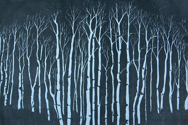 Landscape Relief - Winter by Pati Hays