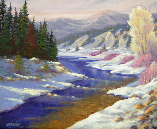 Landscape Painting - Winter Revisited  070712-97 by Kenneth Shanika