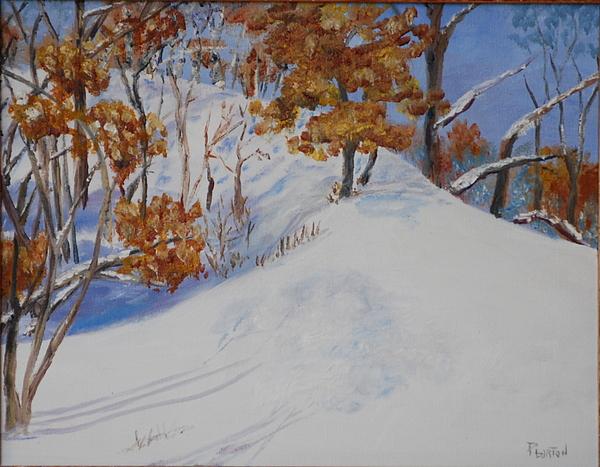 Winter Landscape Painting - Winter Ridge by Phil Burton