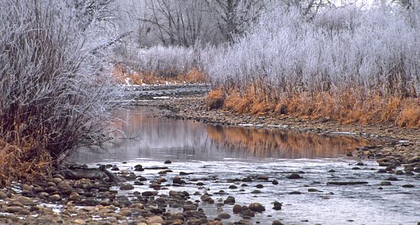 Winter Photograph - Winter River by Bruce Gilbert