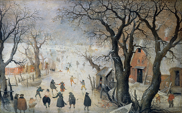 Winter Painting - Winter Scene by Hendrik Avercamp