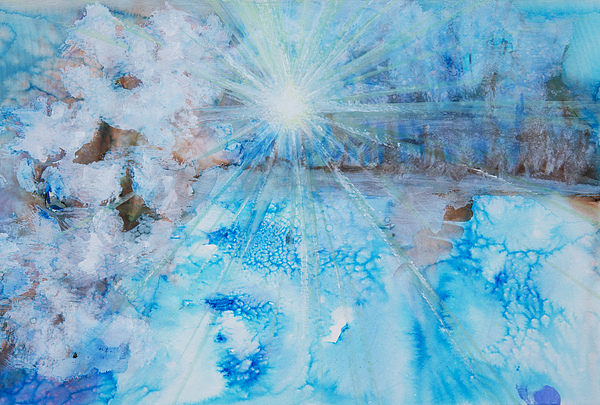 Abstract Painting - Winter Scene by Tara Thelen