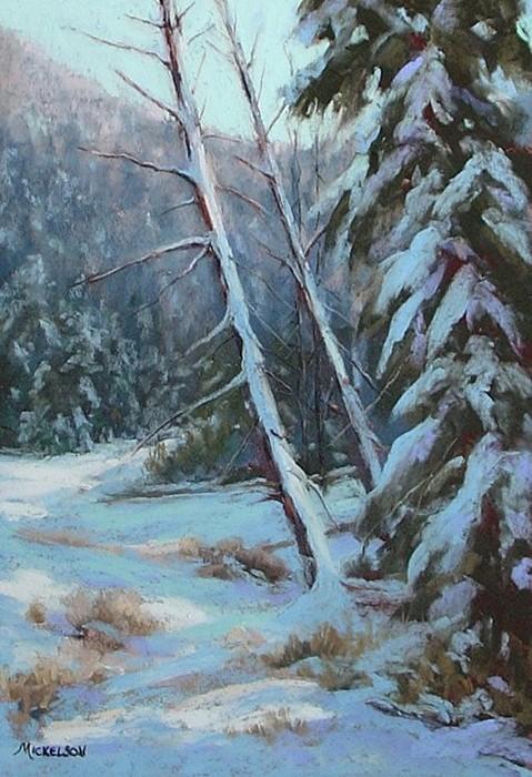 Winter Pastel - Winter Silence by Debra Mickelson