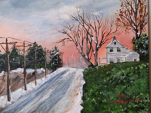 Winter Painting - Winter Sky by Shira Diana Breithaupt
