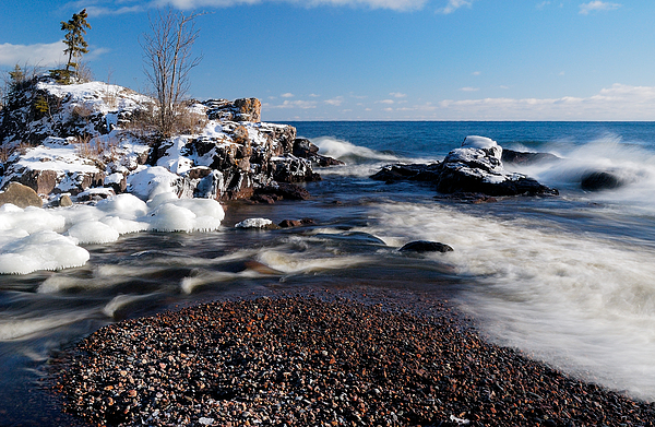 Michigan Photograph - Winter Splash by Sebastian Musial