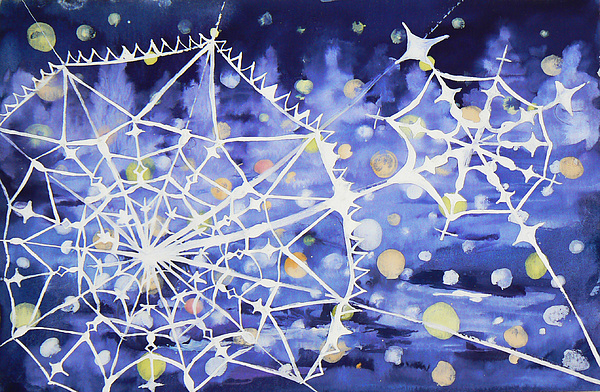 Snow Painting - Winter Web by Anastasia Michaels