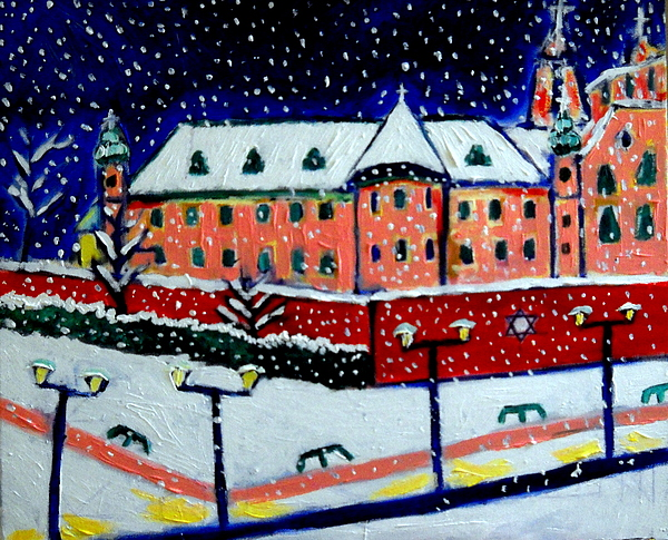Winter Wonderland Kazimierz Painting by Ted Hebbler