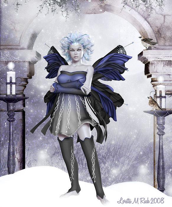 Winters Guardian Digital Art by Loretta Ruch
