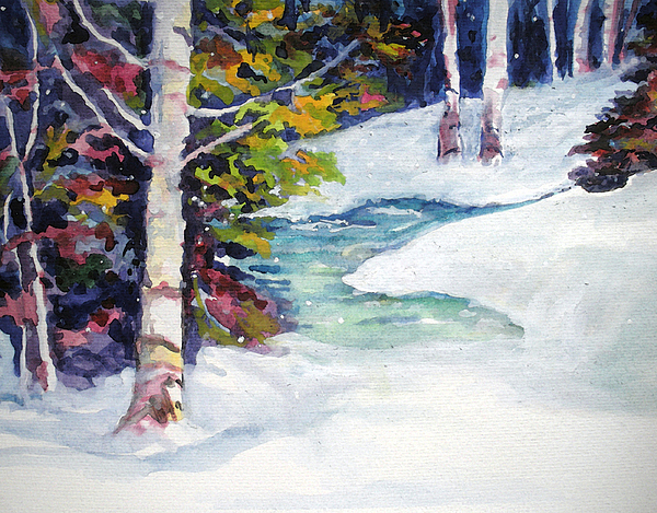 Winter Painting - Winters Solace by Mary Sonya  Conti