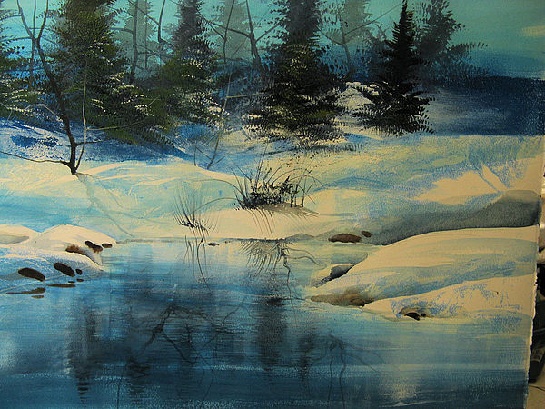 Landscape Painting - Winterscape by Robert Carver