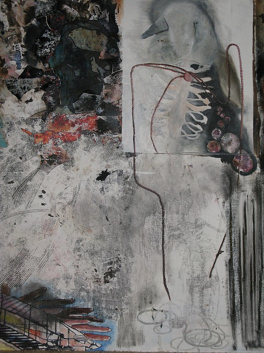 Wries Mixed Media - Wired by Olivia  Whitby