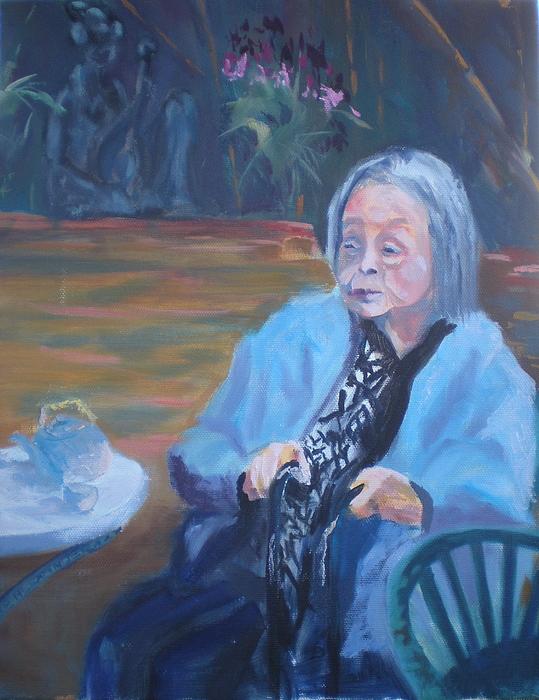 Senior Citizen Painting - Wisdon In Carmel by Bryan Alexander