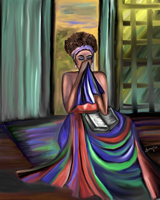 Portrait Painting - With Prayer Alone by Laura Fatta