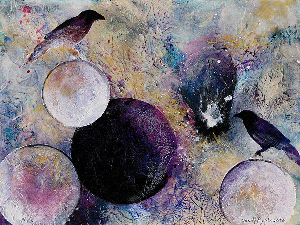 Raven Painting - Within The Distant Aidenn by Sandy Applegate