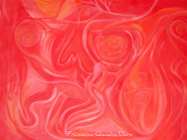 Red Painting - Within The Heart by Sacred  Muse