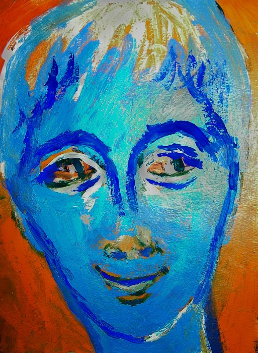 Abstract Painting - Woke Up Laughing by Judith Redman