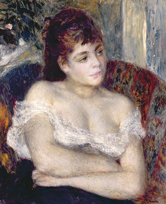 Woman Painting - Woman In An Armchair by Pierre Auguste Renoir