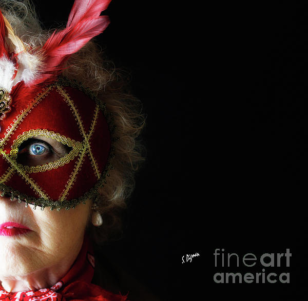 Portraits Photograph - Woman In Mask  by Steven Digman