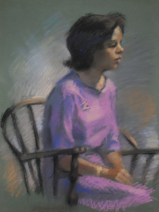 Woman Sitting In Chair Pastel - Woman Sitting In Chair by Charles Vernon Moran