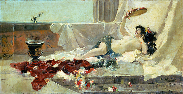 Bacchante (woman Undressed) 1887 (oil On Canvas) By Joaquin Sorolla Y Bastida (1863-1923) Painting - Woman Undressed by Joaquin Sorolla y Bastida