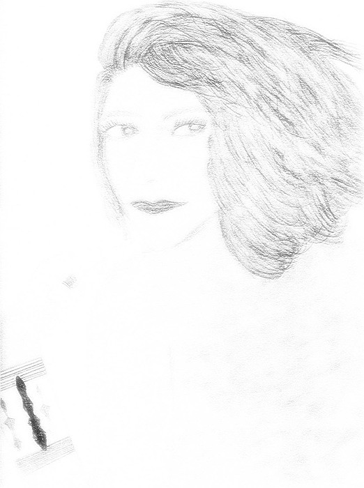 Portrait Drawing - Woman Within 2 by Karen Diggs