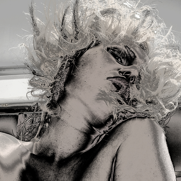 Fine Art Nude Photograph - Women Body-metalic Face by Robert Litewka