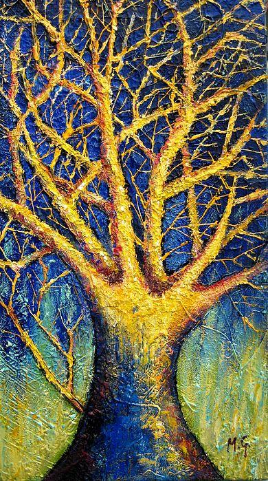 Tree Painting - Wonder Tree by Mirjana Gotovac