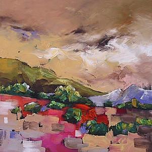 Landscape Painting - Wondrous by Linda Monfort