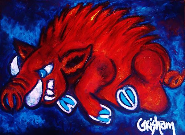 Arkansas Painting - Woo Pig by Laura  Grisham