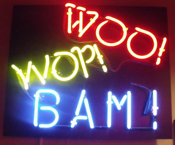 Neon Photograph - Woo Wop Bam by Anna Villarreal Garbis