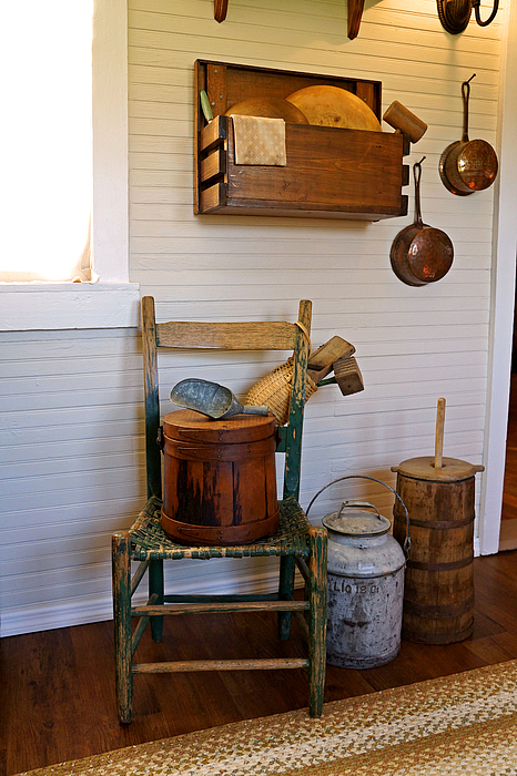 Pioneer Photograph - Wooden Wares And Farm Life by Carmen Del Valle