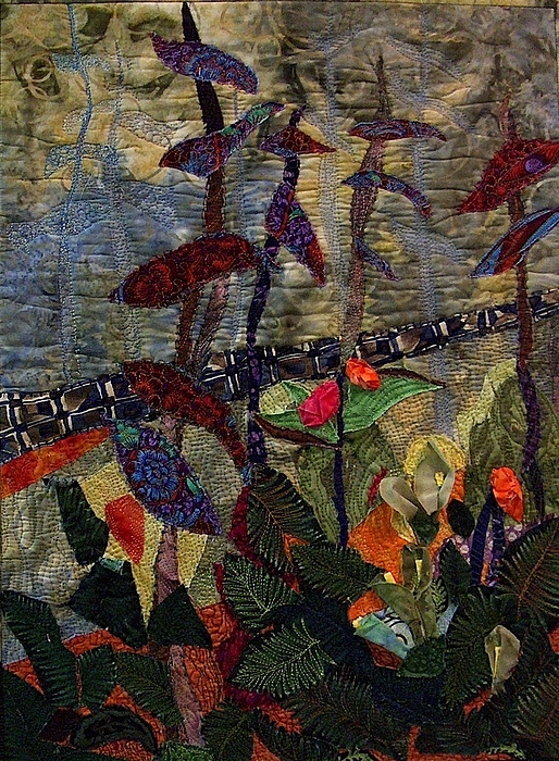 Forest Tapestry - Textile - Woodland Warriors by A Carole Atterbury