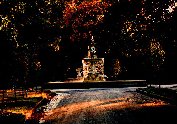 Woodruff Place Photograph - Woodruff Place Fountain  by Martin Morehead