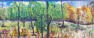 Woods Of Michigan Sold Painting by Christopher Green