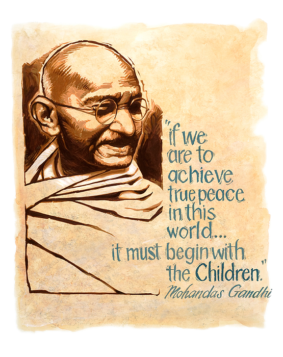 words of peace man of peace mohandas gandhi painting by shawn shea mahatma gandhi painting words of peace man of peace mohandas gandhi by shawn shea